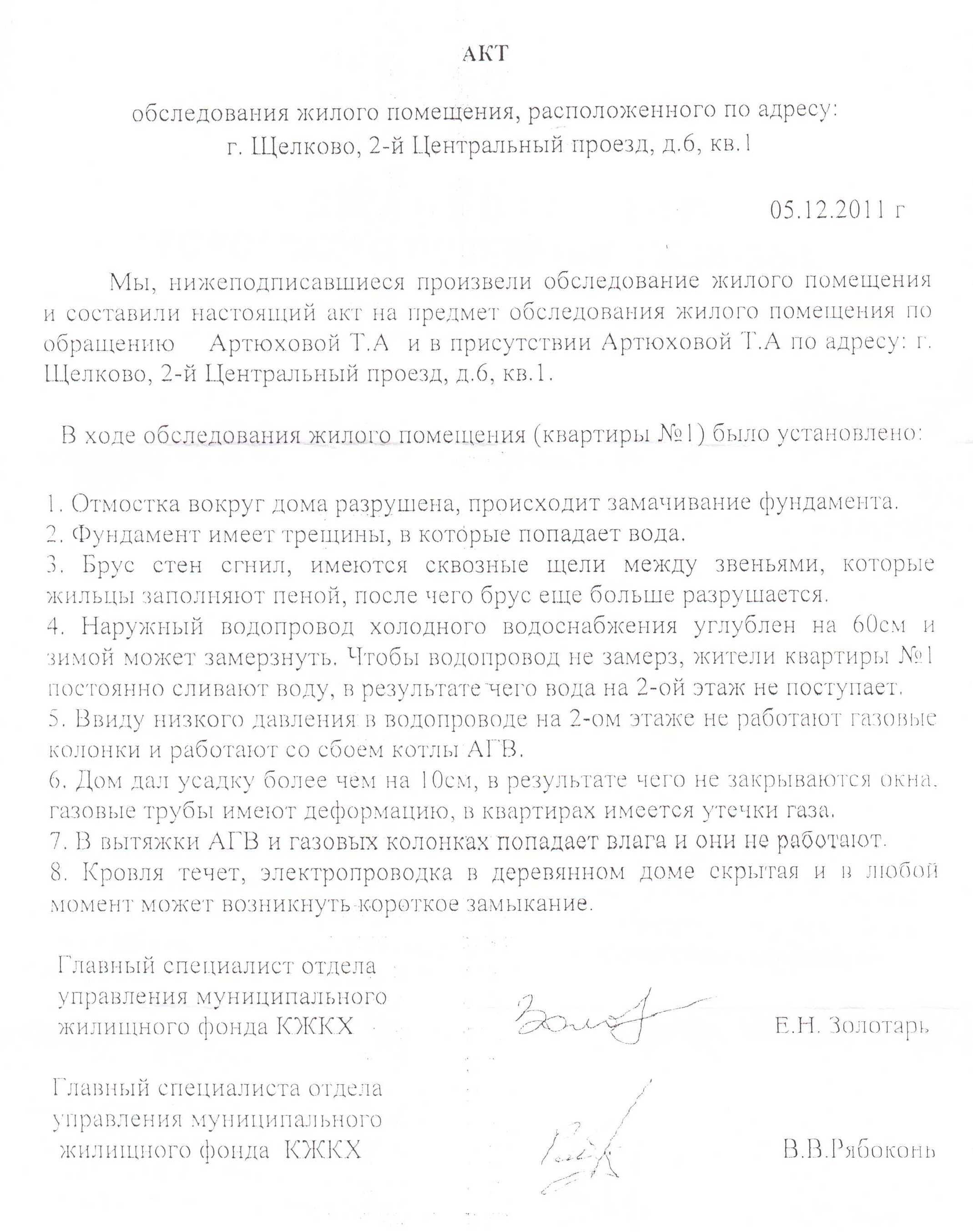 Акт от 11.05.12