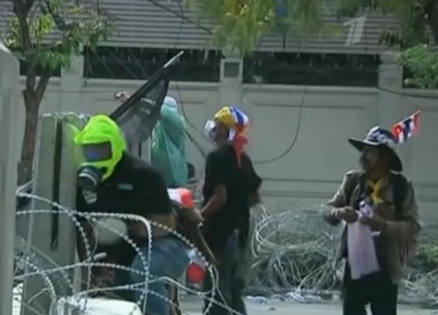 Беспорядки в Бангкоке Таиланд
